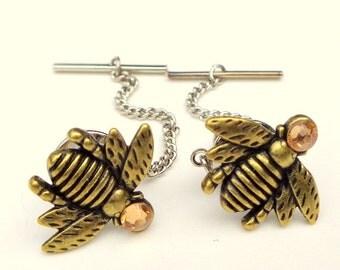 PS, SALE, Gold Honey Bee Tie Tack, Men's Formal Wear