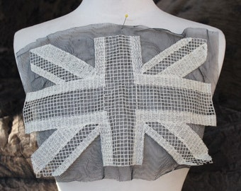 Cute   embroidered  british flag applique
