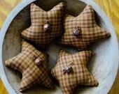Primitive Homespun Cotton Star Ornies-Bowl Fillers