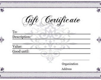 Perfect Holiday Gift Certificate For Friends and Family