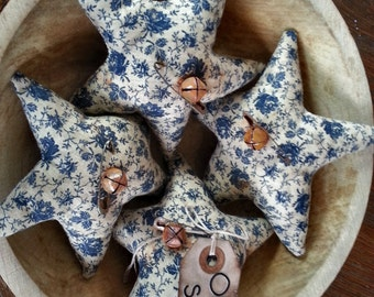 Primitive VintageStyle Cotton Star Ornies-Bowl Fillers