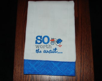 Burp Cloth made from Cloth Diaper