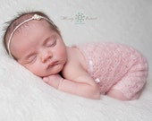 Newborn Mohair Romper, newborn romper,  hand crocheted romper, lace romper, newborn photo prop