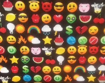 Quilting Fabric - Arcade Games - Emoticons - Fat Quarter