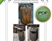 PDF Leather Work Pattern for Seampunk smartphone Holders i phone galaxy etc