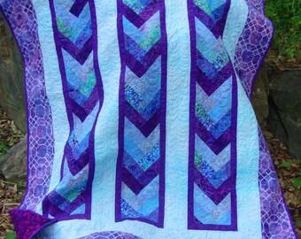 Lap Quilt Purple Braid Batik