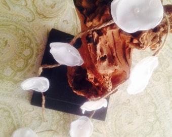 Wedding garland, paper wedding garland, silk flower garland, party garland, wedding decor, custom garland