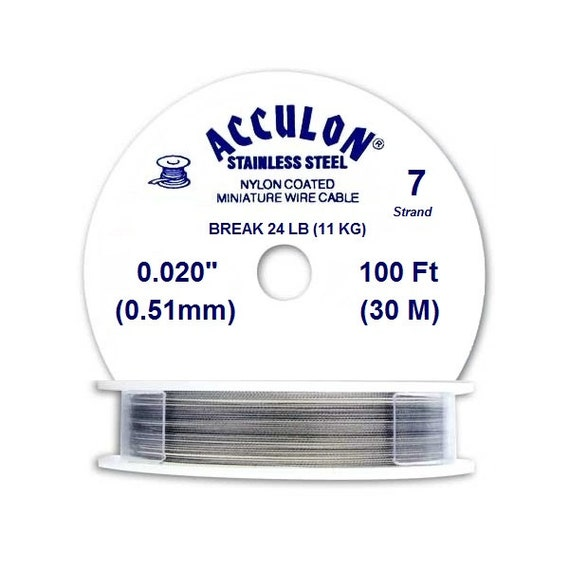 acculon coated beading wire silver 7 strand by