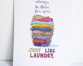 Friendship Laundry Print. Gift for best friend, sister, pal.