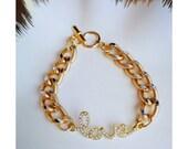 L O V E Gold Bracelet