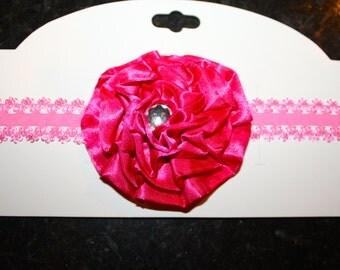 Hot Pink Flower Headband