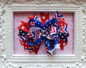 4th of July Hair Bow, fourth of July Over the top hair bow, hair bows for girls, hairbows, hair bow, hair bows for 4th of July