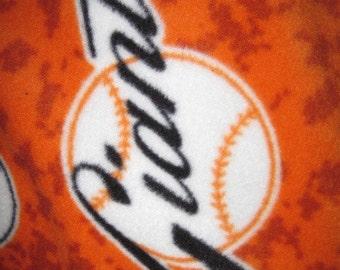 San Francisco Giants Team on Orange with Black Fleece Blanket - Ready to Ship Now