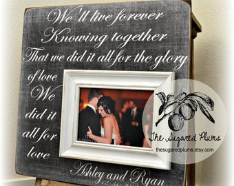 Unique Wedding Gift, Personalized Wedding Gift, Wedding Sign, Gift for Groom, Picture Frame, We'll Live Forever, The Sugared Plums
