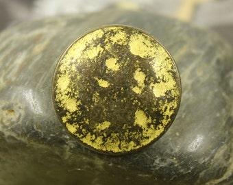 Metal Buttons - Gunmetal Yellow Metal Buttons , Shank , 0.91 inch , 10 pcs