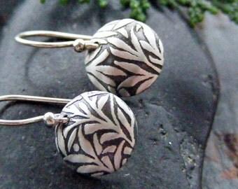 Small Sterling Silver Earrings, Leaf Earrings, Everyday Earrings, Silver Dangle Earrings, Willow Earrings, Willow Tree Jewelry