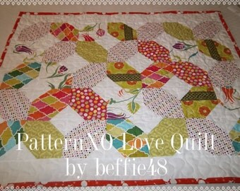 XO Hugs and Kisses Quilt Pattern Tutorial, pdf