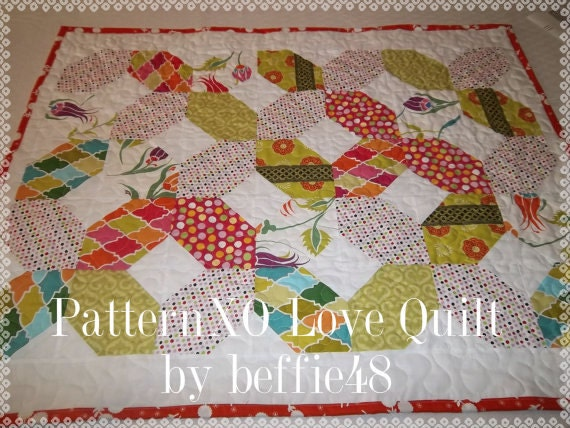 XO Hugs and Kisses Quilt Pattern Tutorial, pdf