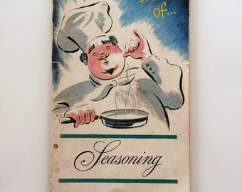 Vintage Lea & Perrin The Secret of Seasoning and Carving Lessons Cookbook 1946
