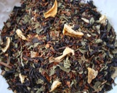 CLEARANCED PRICED - Peach Mojito - Peach, lemon peels, lime peels, mint leaves Black loose tea,Forbidden Pleasures
