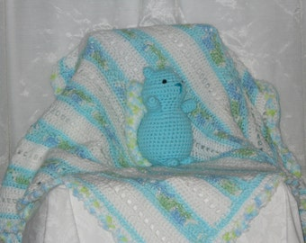 Baby Blanket with Squirrel Rattle