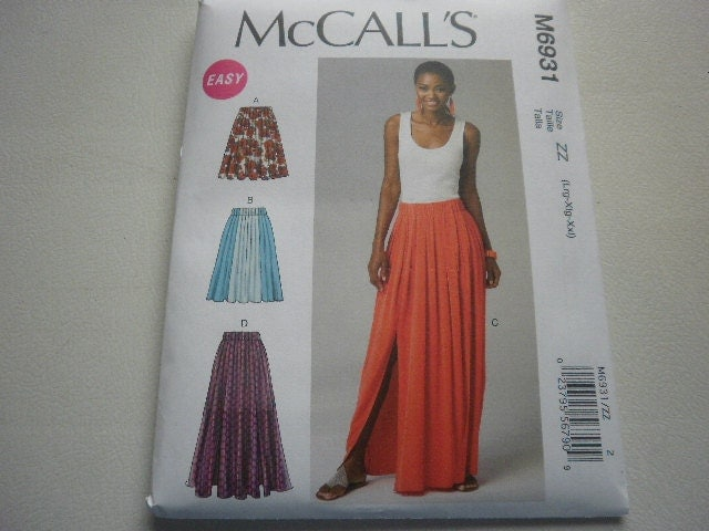 pattern plus size skirts 4 lengths pleated sizes 16 to