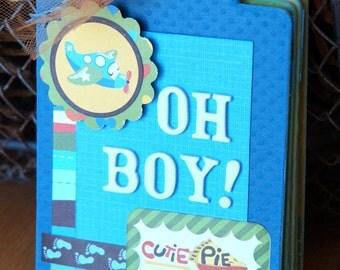 Premade Baby Boy Scrapbook Album Little Boy Mini Album Baby Shower Gift Baby Scrapbook Album