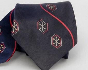 1940's Vintage Silk Tie Navy Ben Pulitzer Creation
