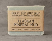 Alaskan Mineral Mud Soap -  All Natural Soap, Handmade Soap, Unscented Soap, Cold Process Soap, Vegan Soap