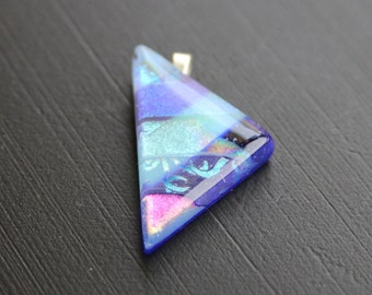 Pendant - Triangle Dichroic Glass