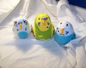 Crochet  parakeet budgie bird Can be made to rattle and squeak This is for one bird