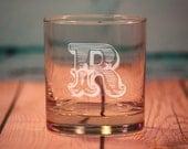 2 Custom Etched Old Fashioned Glasses - Rocks Glasses