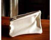 White leather pouch