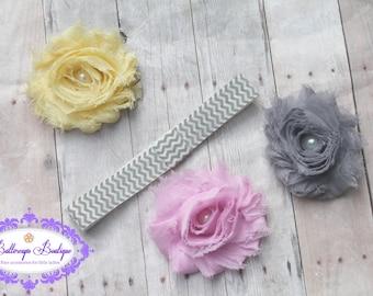 Baby headband, infant headband, newborn headband, interchangeable headband, toddler headband, headband set, baby hair band, chevron headband