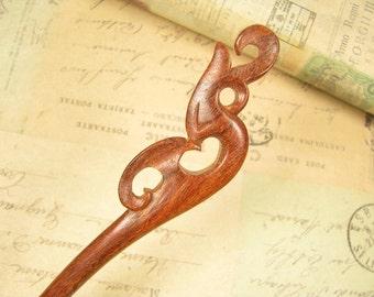Swartizia Wood Strong Hair Stick - Phoenix