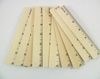 "10 Wood Rulers 6"" Unfinished Wood Rulers"