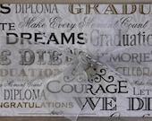 Graduation card w/silver Graduation Cap charm, Commencement Congrats; College Graduation Congrats
