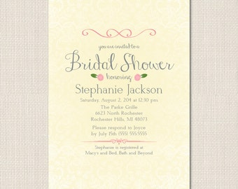 ROSETTES and LACE Bridal Shower Invite - DEPOSIT