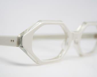 White cat eye glasses retro vintage