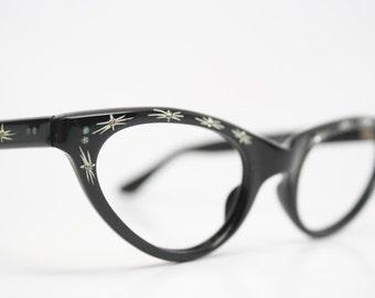 Black Rhinestone cat eye glasses rhinestone cateye frames