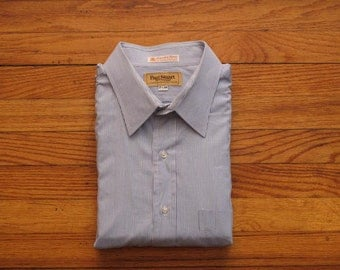 mens vintage Paul Stuart dress stripes shirt
