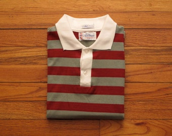 mens vintage striped polo shirt