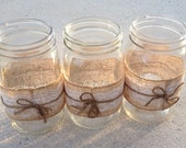 FINAL PAYMENT Burlap and Lace Mason Jars