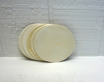 Wooden Circles 3 Inch Unfinished For Signs And Craft Projects Lot Of 5
