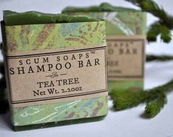 Shampoo Bar - Tea Tree & Green Tea