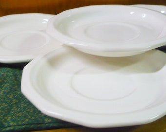 4 - Pfaltzgraff - Heritage Off White - Saucers - 6.5 Inches - EUC - Price Is For All