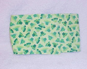 Male Dog Belly Band Pet Wrap Diaper Tiny Tossed Frog  Fabric Custom Sizes To 30""