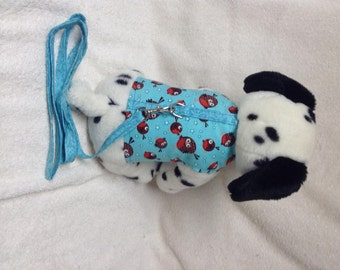 Pet Dog Harness Vest And Matching Leash Lead Small Doggie Robin Bird Print  Custom Made Sizes From XSmall - Medium