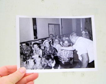 Vintage 5x7 Black and White Photo, Hawaiian Theme Mid Century Photo, Humorous Black and White Photo
