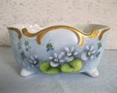 Hand Painted Cachepot With Violets